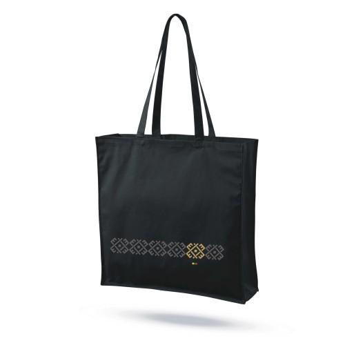 """Medvilninis maišelis su praplatėjimu """"Audimo raštai 3"""""""