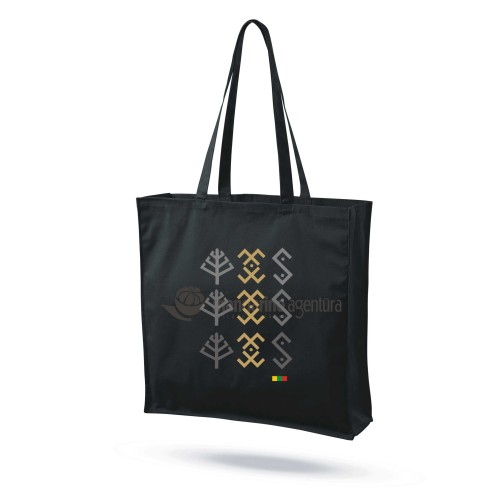 """Medvilninis maišelis su praplatėjimu """"Baltų ženklai 1"""""""