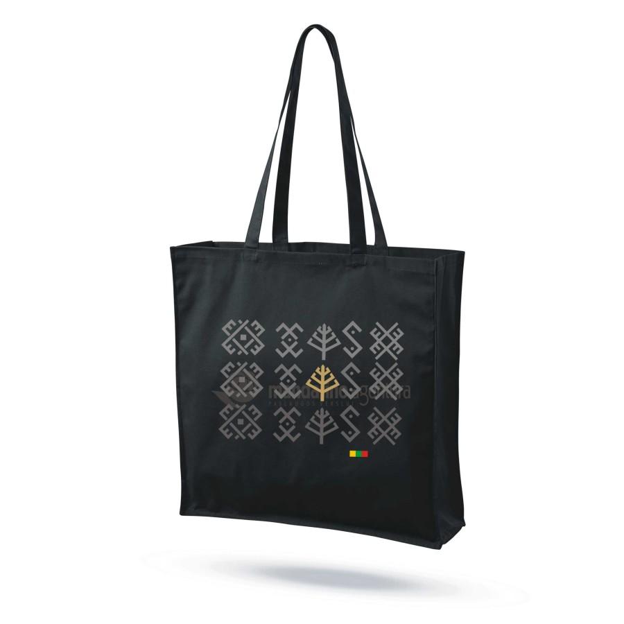 """Medvilninis maišelis su praplatėjimu """"Baltų ženklai 3"""""""